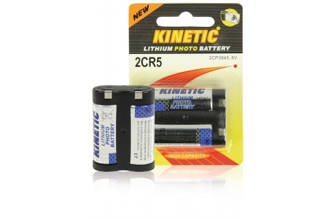 Kinetic 2CR5 Lithium Photo Battery 6V 1-Pack