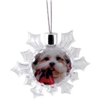 Adventa Snowflake Photo Ornament - Clear