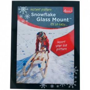 Adventa Snowflake Glass Picture Mount