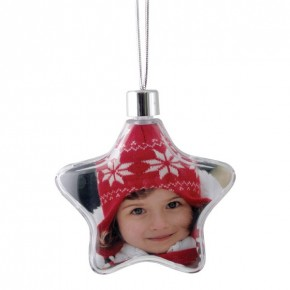 Adventa Star Photo Ornament - Clear