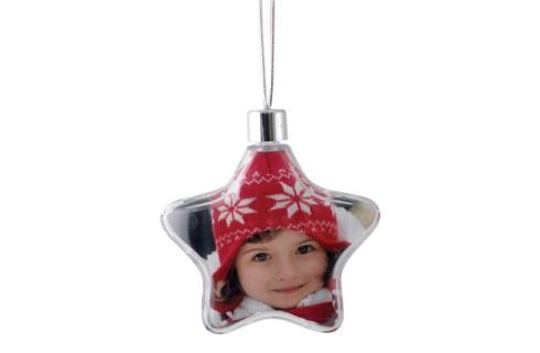 Adventa Star Photo Ornament - Clear