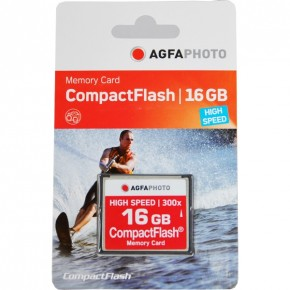 Agfaphoto 16GB 300x Compact Flash Memory Card