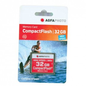 AgfaPhoto 32GB 300x Compact Flash Memory Card