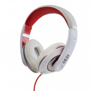 Akai Pro Series Over Ear Headphones - White