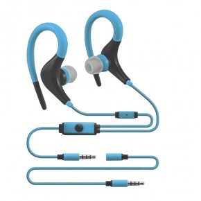 Akai Sport Series Premium Wrap Around Headphones - Blue