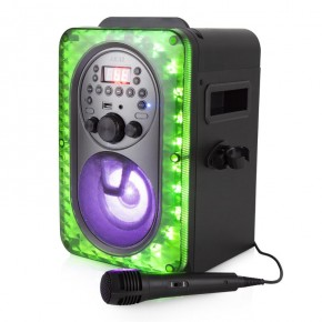 Akai Vibes Bluetooth Karaoke Machine with LED Multicoloured Lighting Effects