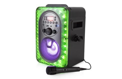 Akai Vibes Bluetooth Karaoke Machine with LED Multicoloured Lighting Effects