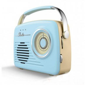 Akai Retro Large Dial FM/AM Radio - Blue