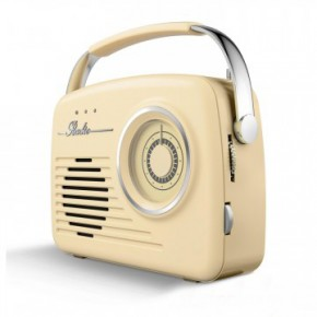 Akai Retro Large Dial FM/AM Radio - Cream