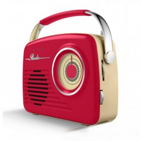 Akai Retro Large Dial FM/AM Radio - Red
