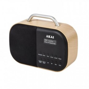 Akai Wood DAB Radio Beech with LCD Screen