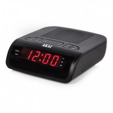 Akai Clock Radio with LED Display - Black