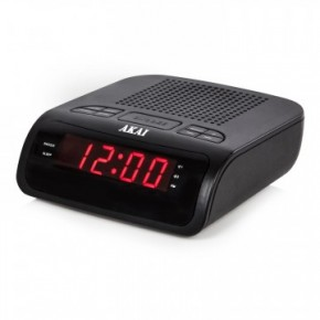 Akai Clock Radio with LED Display - Black