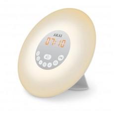 Akai Core Wake-Up Alarm Clock Radio with FM Radio - White