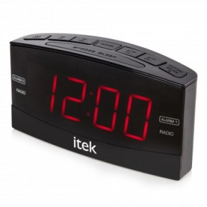 Itek Big button Jumbo LED Alarm Clock Radio