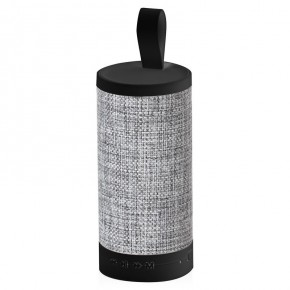 AKAI Fabric Cylinder Bluetooth Speaker - Grey