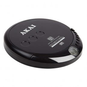 Akai Classic CD Discman with Earphones - Black