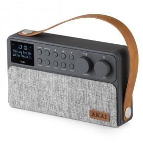 Akai Sonisk Rechargeable DAB+/FM Radio - Grey