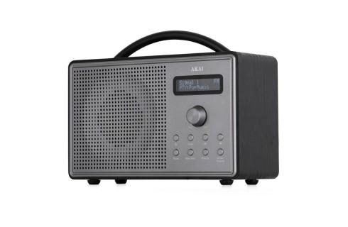 Akai Wood DAB+ & FM Radio - Black