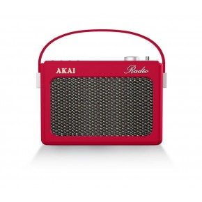 Akai Portable DAB, FM & Bluetooth Retro Radio - Red
