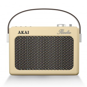 Akai Portable DAB, FM & Bluetooth Retro Radio - Cream