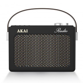 Akai Portable DAB, FM & Bluetooth Retro Radio - Black