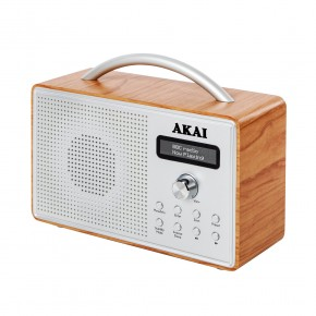 Akai Wood DAB Radio with LCD Screen - Oak