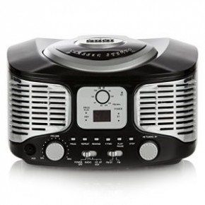 Akai Retro Boombox CD Player with FM Radio & Bluetooth - Black