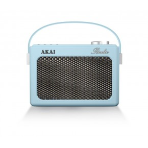Akai Portable DAB, FM & Bluetooth Retro Radio - Blue