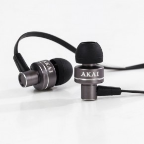 Akai Dynmx Noise Isolating Headphones - Gun Metal