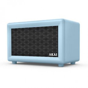 Akai Retro Rechargeable Retro Bluetooth Speaker - Blue