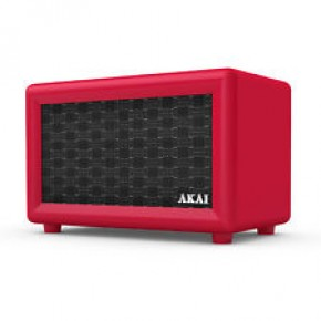 Akai Retro Rechargeable Retro Bluetooth Speaker - Red