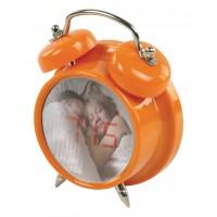 BasicXL Compact Digital Alarm Clock - Orange