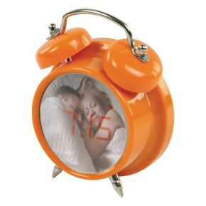 BasicXL Compact Digital Alarm Clock - Orange