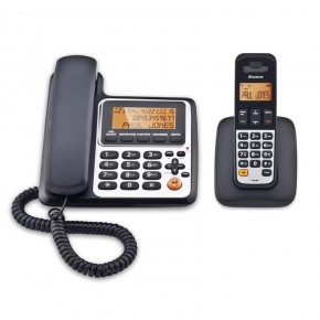 Binatone Concept Combo 3525 Corded and DECT Cordless Telephone with Answer Machine - Black