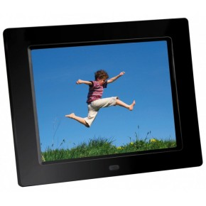 "Braun 8"" Digital Photo Frame 855 - Black"