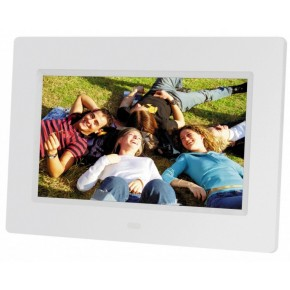 "Braun 7"" Digital Photo Frame 711 - White"
