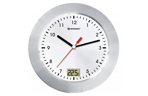 Bresser MyTime Bath Waterproof Clock - White/Silver