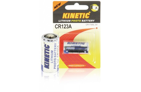 Kinetic CR123A Lithium Photo Battery 3V 1-Pack