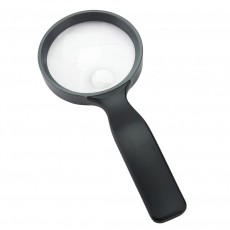 """Carson 3"""" 2.5x Hand Magnifier with 5x Spot - Black"""