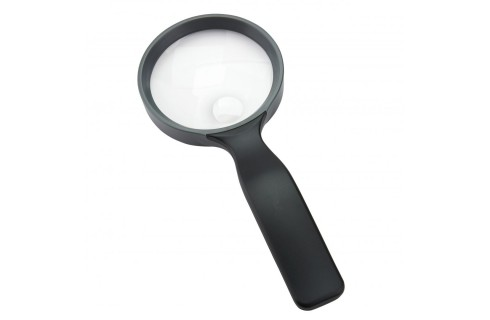 """Carson 4.3"""" 2x Hand Magnifier with 3.5x Spot - Black"""