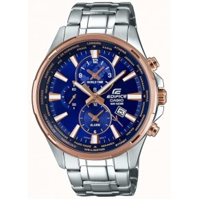 Casio Edifice EFR-304PG-2AVUEF Classic Watch - Silver/Rose Gold