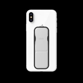 Clckr Universal Phone Grip & Stand Small - Metallic Silver
