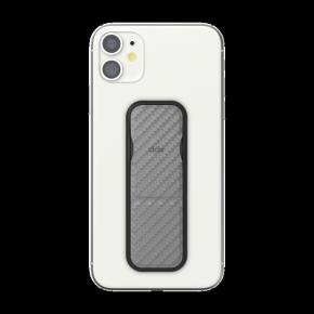 Clckr Universal Phone Grip & Stand Small - Carbon Fibre Grey