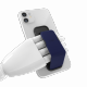 Clckr Universal Phone Grip & Stand Small - Diagonal Lines Navy Blue