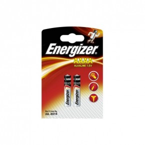 Energizer AAAA Alkaline Battery 1.5v 2 Pack