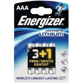 Energizer AAA Lithium Battery 1.5v 4 Pack