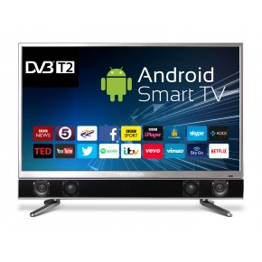 """Ferguson 32"""" Platinum Android Smart Freeview T2 HD LED TV with Integrated Sound Bar"""