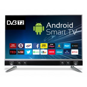 """Ferguson 43"""" Platinum Android Smart Freeview T2 HD LED TV with Integrated Sound bar"""