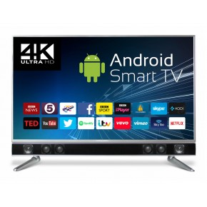 """Ferguson 50"""" Platinum 4K UHD Android Smart Freeview T2 HD LED TV with Integrated Sound bar"""